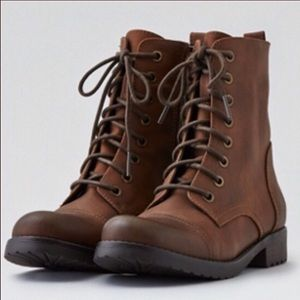 American Eagle outfitters lace up combat b…
